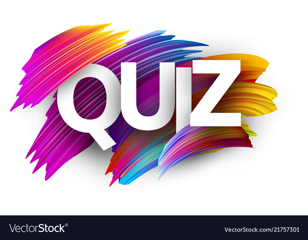 quiz sign with colorful brush strokes vector 21757301